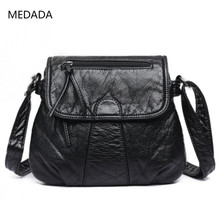 MEDADA Summer 2019 New Style Square Bag Girl Slant Bag, Single Shoulder  Mini Soft Leather
