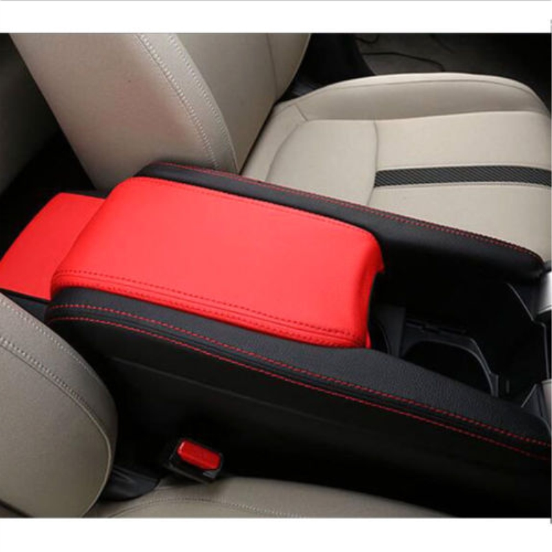 3x Pu Leather Center Armrest Box Case Cover Trim For Honda Civic 2016 2017 2018