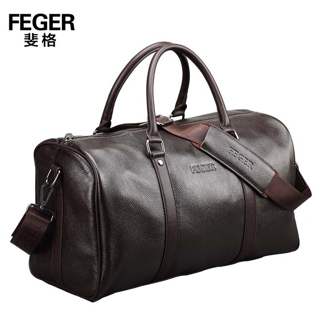 7863bccd37 Free shipping new 2017 brand genuine leather portable men travel bags  travel duffle shoulder bag carry on luggage items TB119