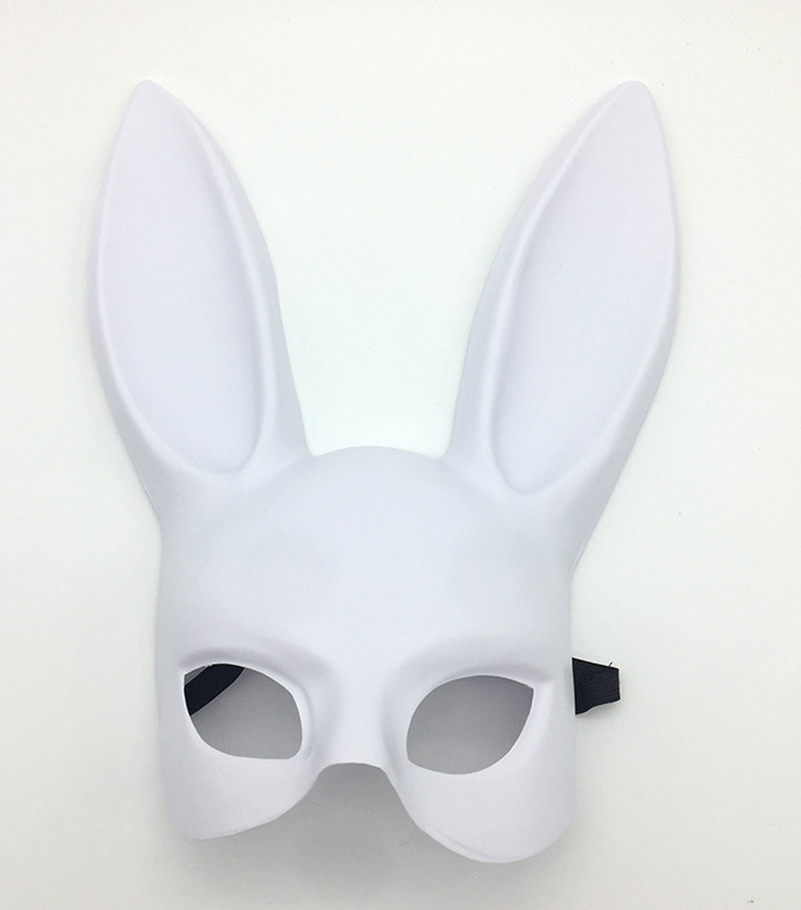 1pc Halloween Laides Bunny Mask Party Bar Nightclub Costume Rabbit Ears Mask in Costume Accessories from Novelty Special Use