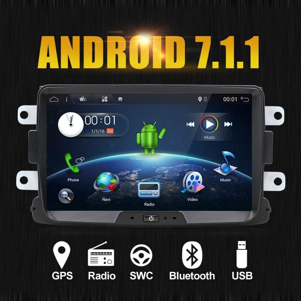 Android 7.1 Car dvd Stereo For Renault Dacia Duster Sandero Lodgy Dokker Auto Radio GPS Navigation car multimedia with wifi BT установочный комплект thule 4028 для dacia lodgy renault lodgy 5дв mpv с 2012