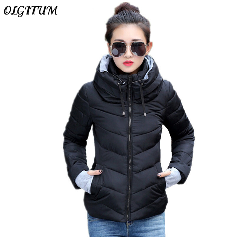 2019 New women plus size long sleeve warm light down padded winter jacket women   parkas   for women winter coat fashion jacket
