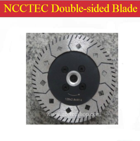5'' NCCTEC Diamond Double-sided Saw Blade | 125mm blade has 2 Functions for grinding and cutting ceramics | very fast work speed folding saw cutting edges sk5 three surface grinding double screw security firm hacksaw blade sharp saws for cutting tool