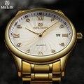 2016 New Luxury Brand MEGIR Men Business Watches Men's Quartz Analog Date Clock Casual Wrist Men Gold Watch Relogios Masculino