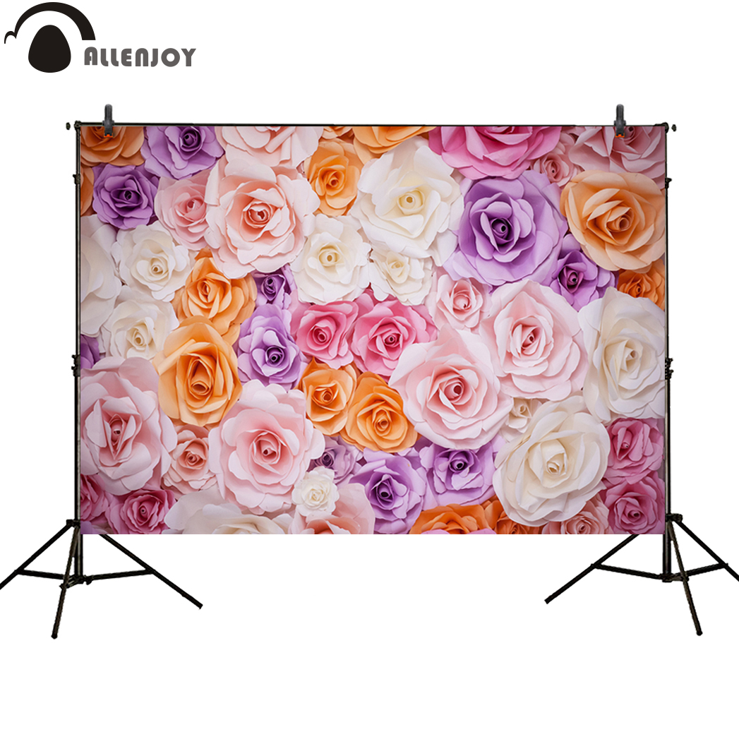 Allenjoy photo background flower banner sweet baby Three-dimensional wedding new backdrops for photo studio photo shoot vinyl allenjoy photography backdrops pink curtains stripes birthday background customize photo booth for a photo shoot vinyl backdrops