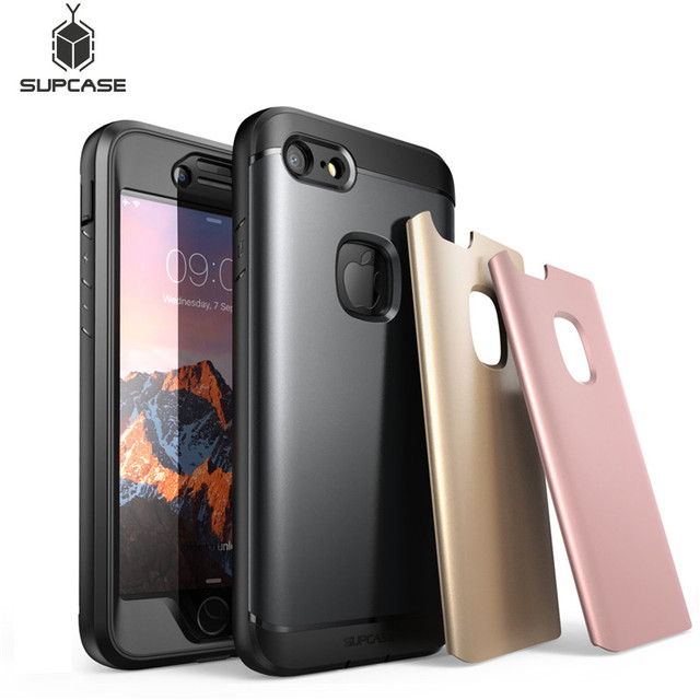 iphone 7 case built in screen protector