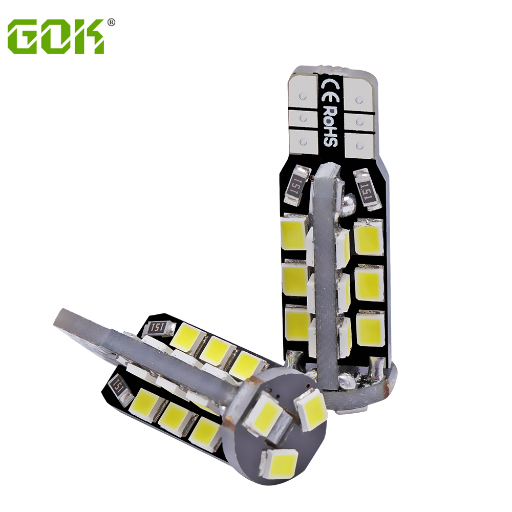 Wholesale T10 led canbus 2835 smd 27Led  t10 27smd Canbus Car Smd Light w5w 194 w5w Bulb No Obc Error car light 100pcs/lot-in Signal Lamp from Automobiles & Motorcycles    1