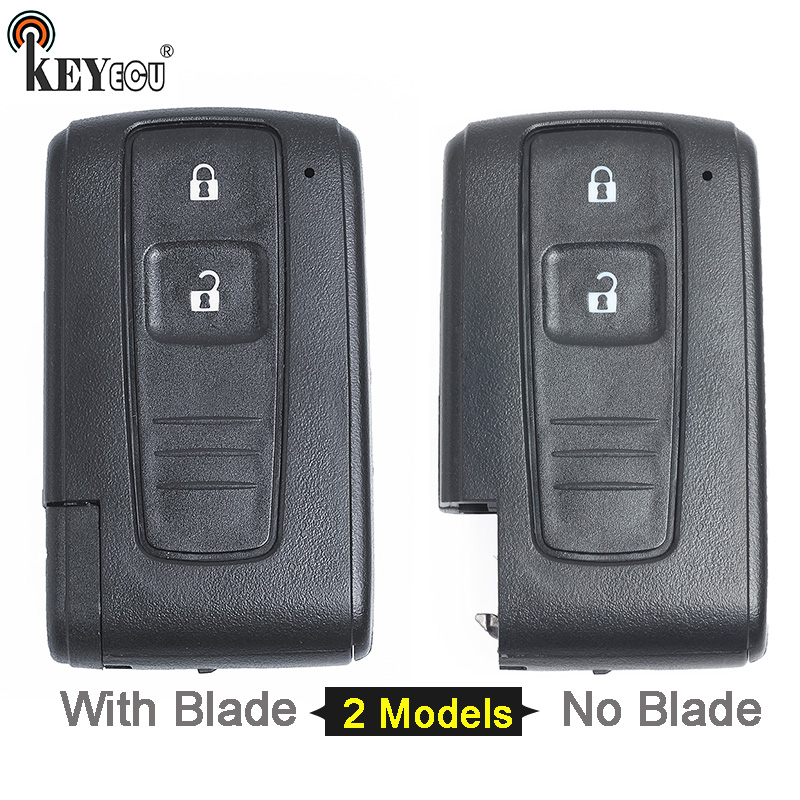 KEYECU for Toyota Prius Replacement Smart Remote Car Key Shell Case Fob 2 Button With/No Uncut Blade (Only Shell) цена