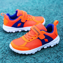 Boys Girls Orange Shoes Size 28-38 Teenage School Sport Shoes Kids Trainers Walking Running Light Wear-resistant Tennis Sneakers