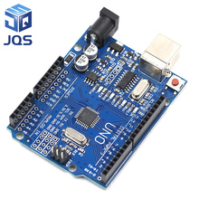 high quality One set UNO R3 (CH340G) MEGA328P for Arduino UNO R3 ATMEGA328P-AU Development board стоимость