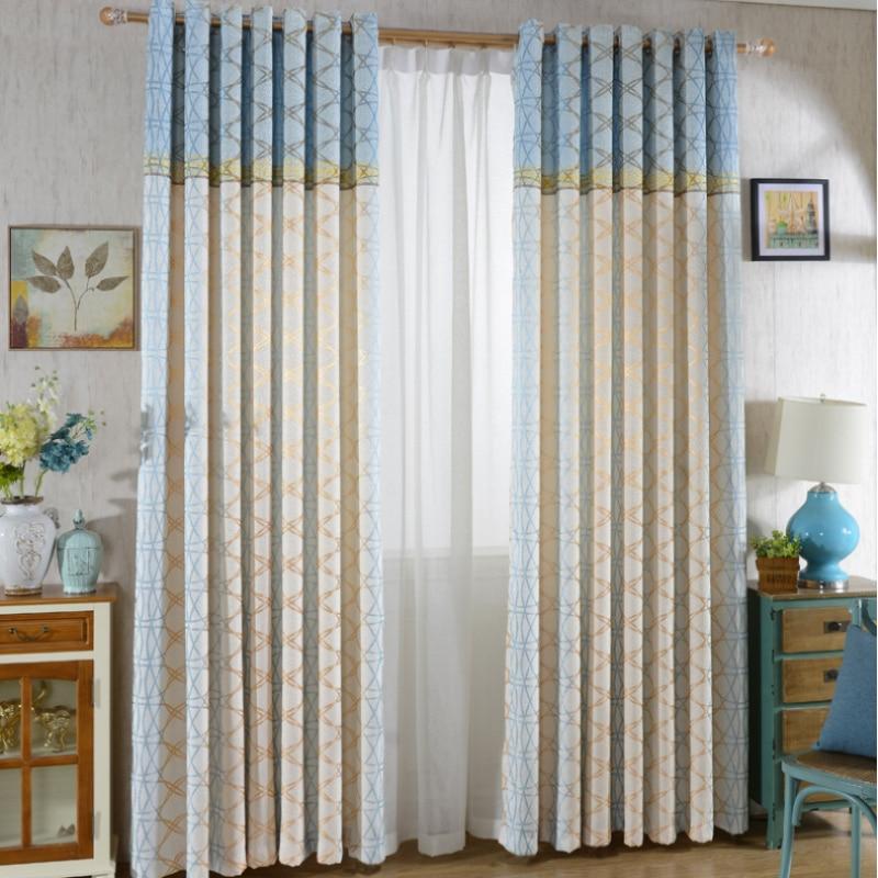 Geometric Jacquard Modern Curtains Simple Design Living: Popular Geometric Curtain-Buy Cheap Geometric Curtain Lots