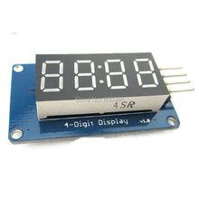 10PCS/LOT 4 Bits Digital Tube LED Display Module With Clock Display TM1637 for Arduino Raspberry PI FZ1435