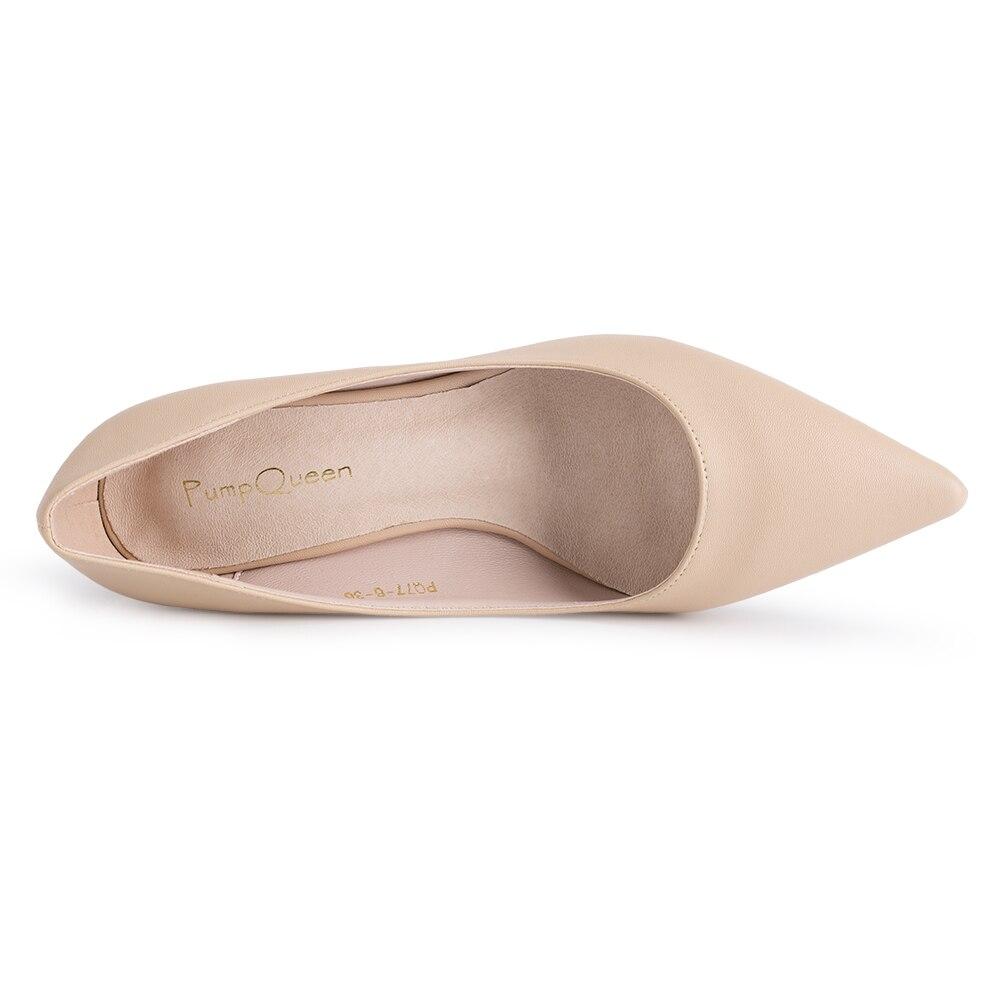 Tacones negros básicos mujeres bombas 2018 nuevos zapatos de oficina para  mujer suela de cuero Real tacón bajo Azul Rojo Color Nude tamaño 41 en  Bombas de ... d1ddeb598f1c