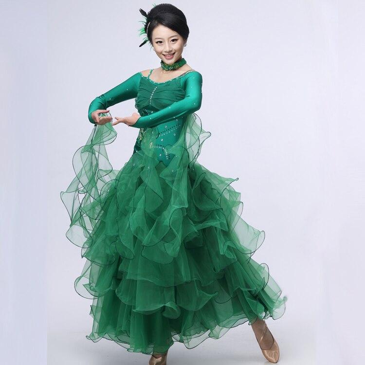 8 colors green blue ballroom dance dress woman Ballroom dresses standard waltz dance dress modern dance dress Foxtrot tango