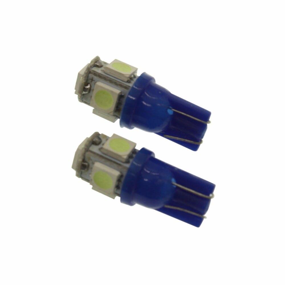 Бесплатная доставка 10 шт. T10 5SMD DC 12 В 1 Вт <font><b>5050</b></font> 5 SMD 192 168 194 <font><b>W5W</b></font> <font><b>LED</b></font> Клин Сторона лампы Авто светло-голубой источник