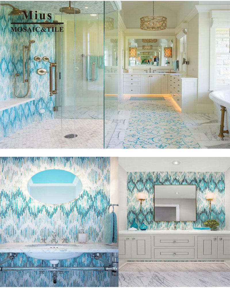 Tiffany glass mosaic tile bathroom design -in Wallpapers from Home ...