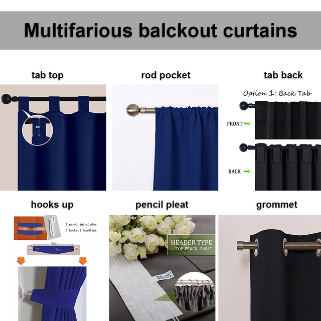 NICETOWN All'aperto Tenda Impermeabile-Tab Top Termica Insulated Blackout Outdoor Tenda/Drape per Patio Giardino/Portico Anteriore