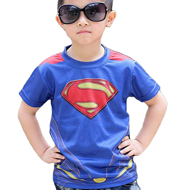 New Marvel America Super Hero cycling jersey superman spiderman  kids children s cycling short Tshirt breathable quick drying 3ad94845f