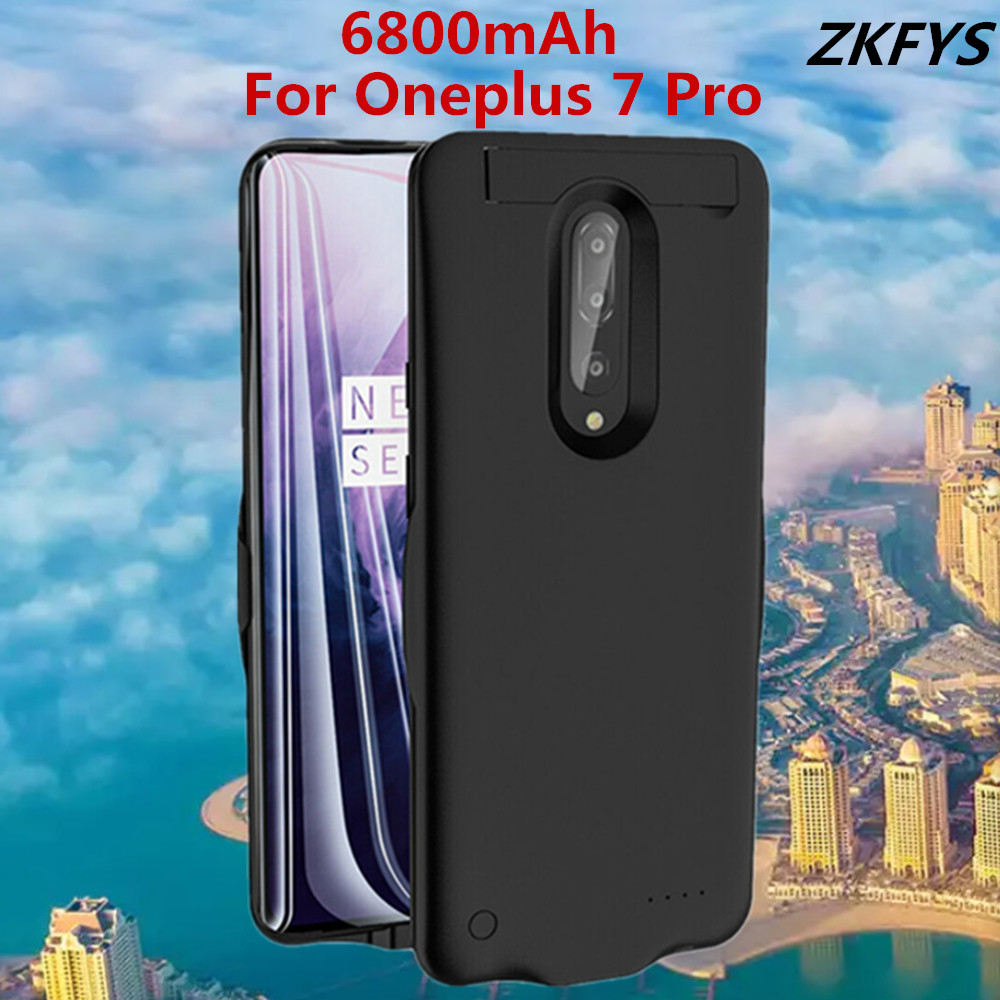 6800mAh High Quality External Power Bank Battery Pack Backup Charger Case For Oneplus 7 Pro Fast