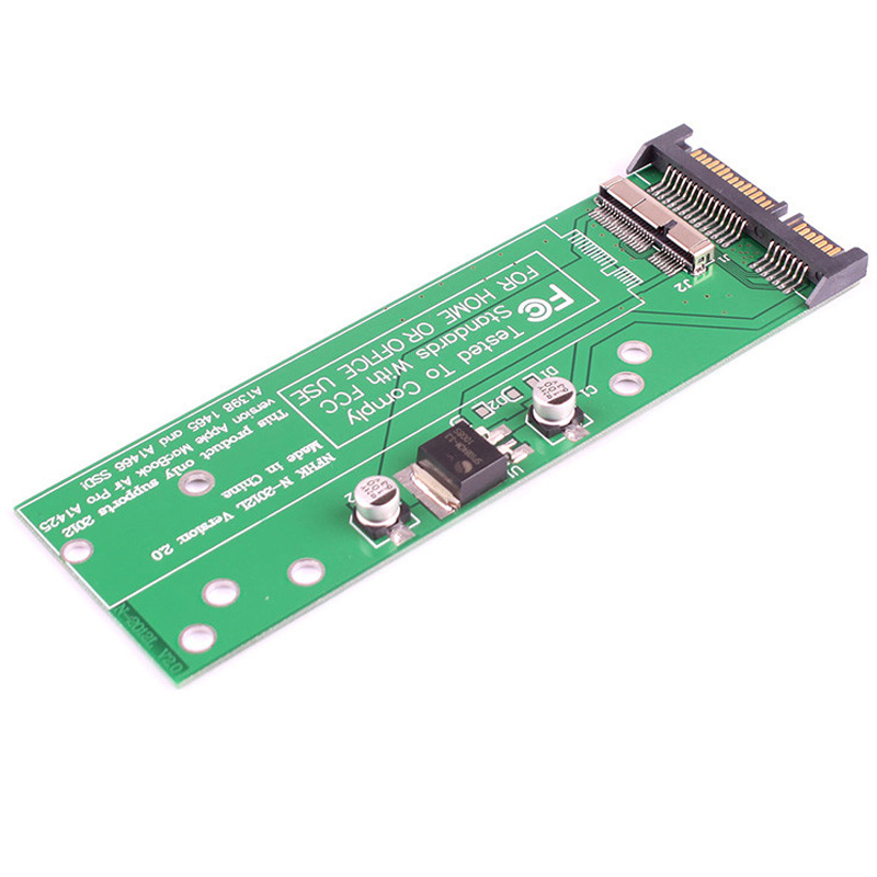 "2.5 ""SATA 6Gb / s 3.0 to Macbook Air 2012 SSD სათამაშო ადაპტერ A1466 A1465 7 + 17 Pin SSD to 22Pin SATA Converter"
