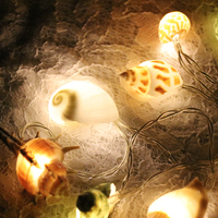 Free Shipping(1pcs/lot)Shell LED Light String Natural Shell Beach Wedding & Christmas Decor Handmade Craft Party Supplies
