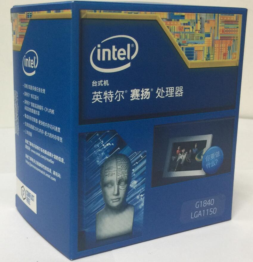 Intel Celeron Processor G1840 Boxed processor (2M Cache, 2.80 GHz) LGA1150 Dual-Core 100% working properly Desktop Processor wavelets processor