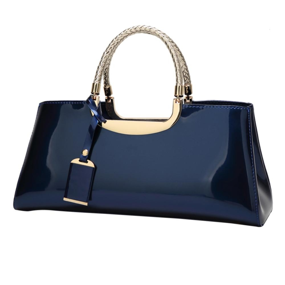 Fashion Women Glossy Patent Clutch Handbag Fashion Casual Shoulder Bag Top-handle Bag Women Handbags Luxury Designer 2019Fashion Women Glossy Patent Clutch Handbag Fashion Casual Shoulder Bag Top-handle Bag Women Handbags Luxury Designer 2019