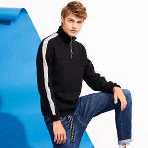 Image 3 - Pioneer camp retalhos zíper hoodies homens marca roupas de lã grossa outono inverno moletom masculino qualidade algodão awy702304