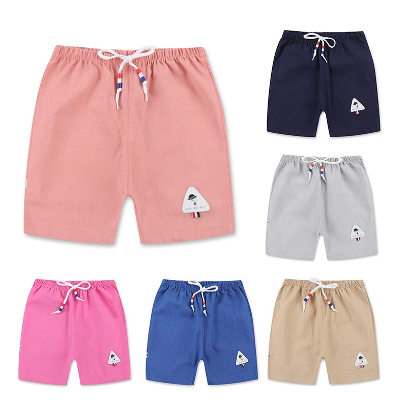 6 Color Kids Clothing Baby Girls Cotton   Short   Hot Summer Boys Harem Beach Pants Toddler Girl Cartoon Print   Shorts   Casual Style