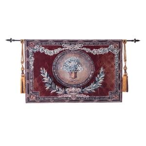Tapiz colgante de pared de rama de olivo Jacquard de alta calidad Alfombra de pared de algodón de Arte de Bélgica decoración del hogar gobelén 140x95 cm