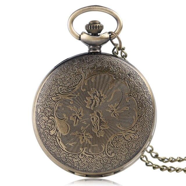 Retro Bronze Pocket Watch 4