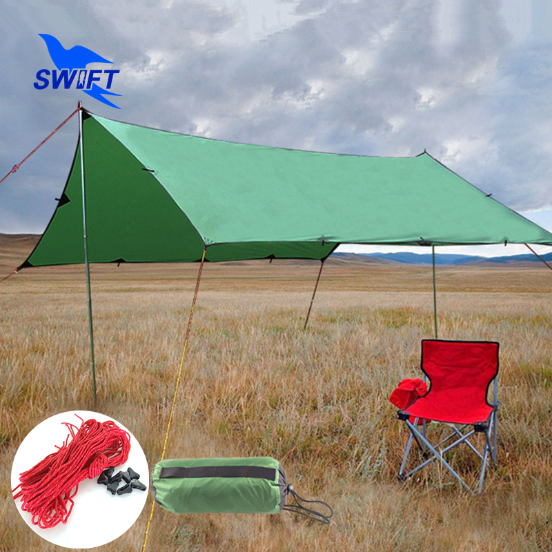 3*3/3*4m 40D Silicone Coating Nylon Fabric Ultralight Waterproof Outdoor Sun Shelter 2016 Beach Tent Sun Canopy Fishing Awning 3 1063918