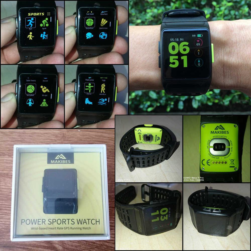 1 سنة الضمان Makibes BR1 GPS ساعات يد رياضية بلوتوث ECG IP67 للماء IPS شاشة ملونة القلب معدل Strava ساعة ذكية