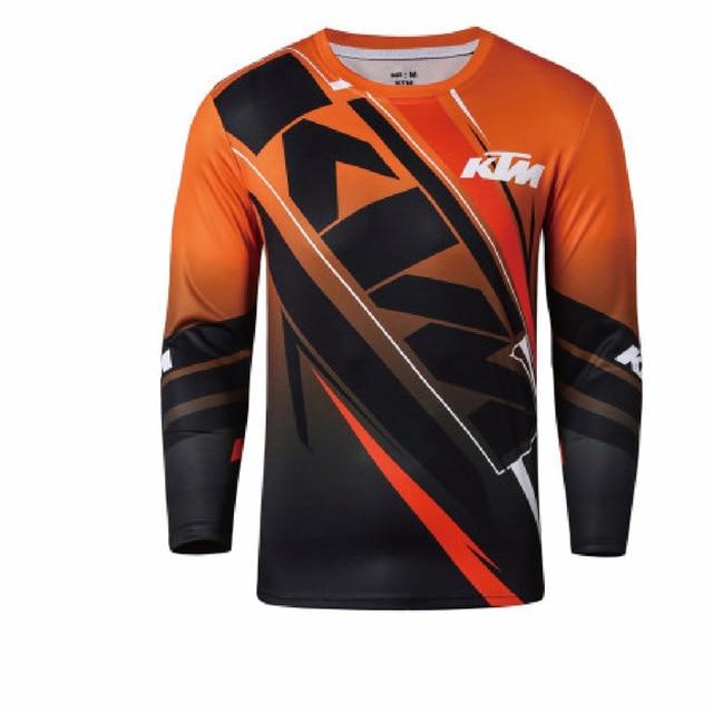 Cycling Jerseys Realistic Short Sleeve Green Red Black Moto Gp Mountain Bike Motocross Jersey Bmx Dh Cycling T Shirt Clothes Orange Cycling Jerseys