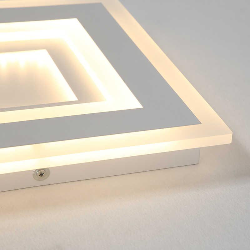 Белая Квадратная современная светодиодная люстра, блеск для гостиной, спальни, кабинета, дома, деко, AC85-265V, люстра, освещение