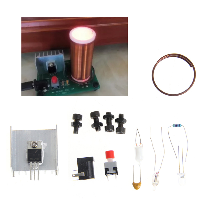 For 9V-12V Electronic Toys Tesla Coil Wireless Transmission PCB Lighting Spray Plate -Y103 small music tesla coils plasma speakers wireless lighting ion windmills electronic toys gifts