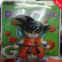 Free Shipping Dragon Ball Action Figures Toys 10cm Sun Goku Childhood Edition Soft Plastic Action Figures Doll PVC Model Toys