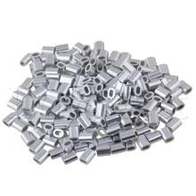 200 шт Овальный Алюминиевый зажим Наконечник Рукава для 1 мм троса