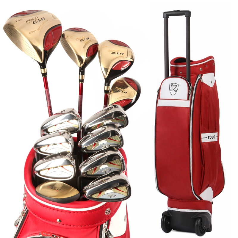Authentic Polo Golf Club Complete Sets Trolley Tugboat Bag Female Full Left Beginners Rod Golf Ball Bag Cue Kit Wood Iron Clubs simulation mini golf course display toy set with golf club ball flag