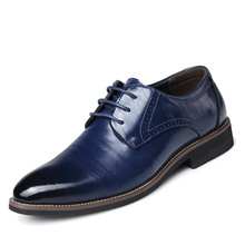 Genuine Leather 2017 X0501107 Men's Leather Shoes Plus size 47 48 Business Formal Office oxfords flats casual lace-up male shoes