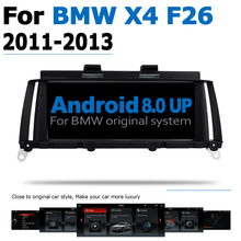 8.8 6-Core Android 8.0 up Car DVD Player For BMW X4 F26 2011~2013 CIC Autoradio GPS Navigation Multimedia