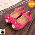 High Quality 2016 Kids Shoes For Girl Fashion Leather Single Sandal Shoe Bowtie Princess Girl Sandals Dress Girls Party Shoes