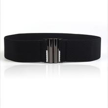 Livraison gratuite nouvelle mode large ceinture élastique en cuir ceinture  Double boucle en métal ceinture extensible femmes cei. 41682b96f43