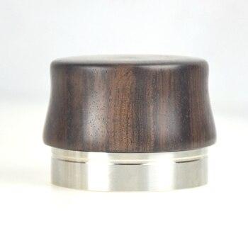 Новый best качество 58 мм плоское основание Кофе вскрытия 304 Нержавеющаясталь базы деревянной ручкой Кофе ware