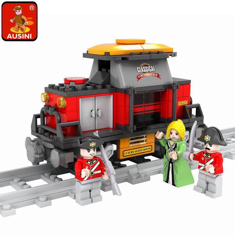 Model building kit compatible with lego train traffic rails 115 pcs 3D block Educational model building toy hobbies for children