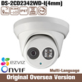 HIK 4mp original Ds-2cd2342wd-i 4mm Poe Ip Cctv Camera HIK Infrared Uk Cmos Night Onvif Roi 1080p uk RJ45 RS English ir