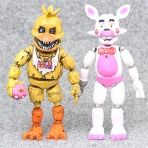 Image 3 - 6pcs/set At Freddys Five Nights PVC Action figure 17cm Bonnie Foxy Freddy toys 5 Fazbear Bear Doll baby toys for Christmas gift