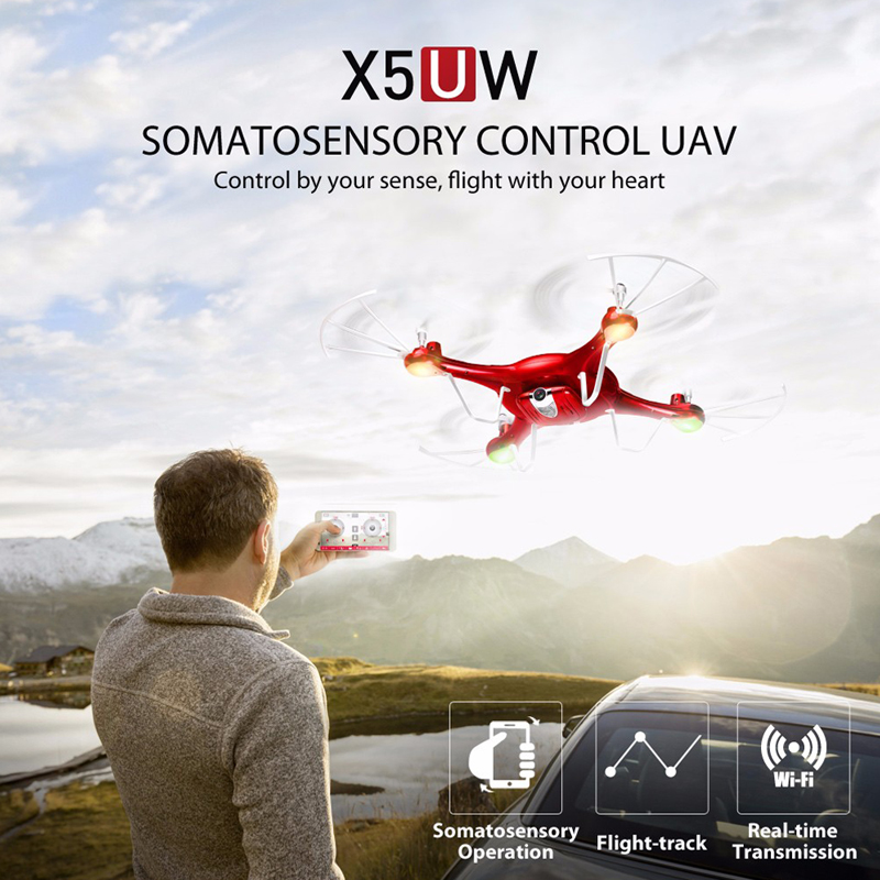 SYMA X5UW RC Drone with WiFi Camera HD 720P Real-time Transmission FPV Quadcopter Headless RC Helicopter Dron Quadrocopter syma x5uw drone wifi camera hd 720p real time transmission fpv 2 4g 4ch rc helicopter quadrocopter mobile control vs x5sw x5c