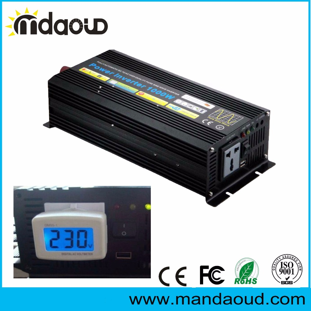 Off Grid 1000W 12V/24V/48VDC TO 110V/120V/220V/230VAC Pure Sine Wave Solar Home Power Supply Back-up Car InverterOff Grid 1000W 12V/24V/48VDC TO 110V/120V/220V/230VAC Pure Sine Wave Solar Home Power Supply Back-up Car Inverter