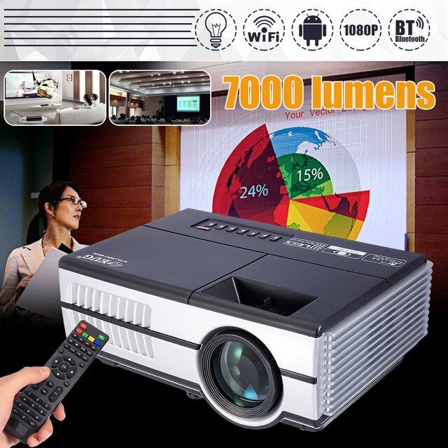 New Price Max 7000Lumens 1080P Full HD LED Projector 3D Home Theater Cinema LCD Wireless HDMI AV/VGA/USB/SD/HDMI/TV Multimedia Beamer